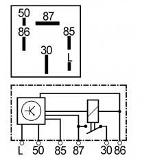 Relé de precalentamiento motor Aixam Kubota después de 1997