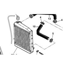 Manguera de refrigeración inferior Microcar Virgo , MC1, MC2 (motor Lombardini Focs)