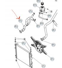 MANGUERA DE REFRIGERANTE LIGIER XTOO S, R, RS, IXO, JS50, JS50 L, OPTIMAX, DUÉ, MICROCAR MGO3/4 (MOTOR DCI)