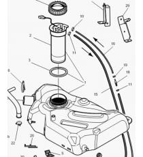 Depósito de combustible Microcar MC1/MC2, MGO 1/2, M8, F8C, Ligier JS RC, Flex