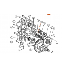 Caja de cambios segundo eje de reducción Comex Aixam721,741city,Scouty,Crossline