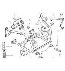 Support arriere Microcar MGO 1 , MGO 2 , M8 , F8C , LIGIER JS RC ( moteur lombardini Progress )