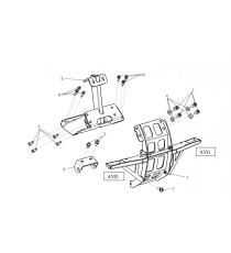 kit support moteur avant et arriere microcar mgo 2,m8,8c,Ligier-jsrc Lombardini-dci